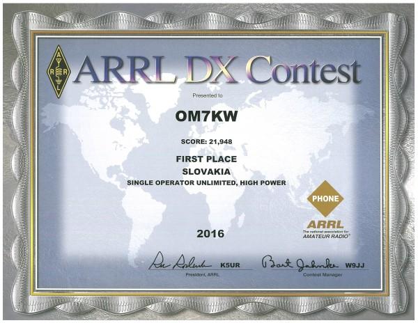 ARRL DX SSB 2016