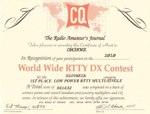 CQ WW RTTY 2010