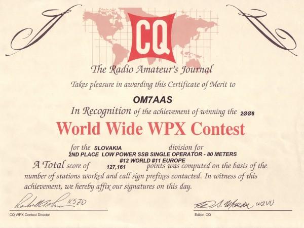 CQ WW WPX SSB 2008