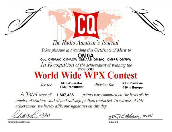 CQ WW WPX SSB 2009