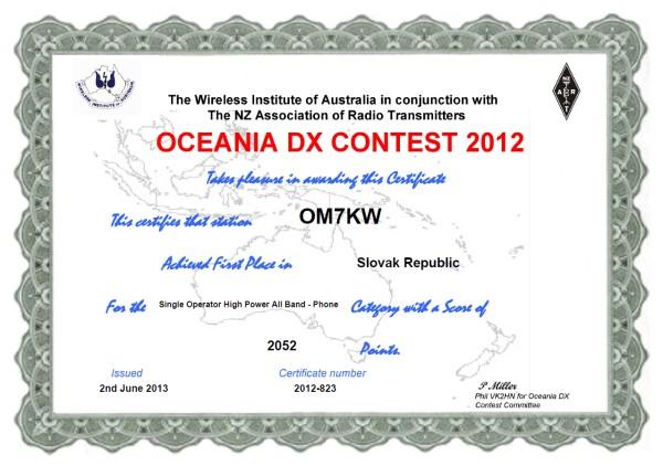 OCDX SSB 2012