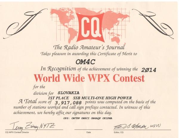 CQ WPX SSB 2014