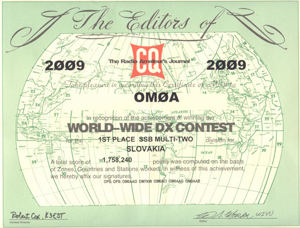 CQ WW DX SSB 2009